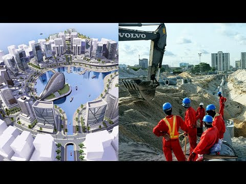 Atlantic - Eko Atlantic, the African Shanghai. Watch the current progress ( January 2014 ) of the Nigerian Mega Project located in Lagos, near Victoria Island. See the ...