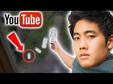 Top 5 LUCKIEST YouTuber Water Bottle FLIPS (видео)