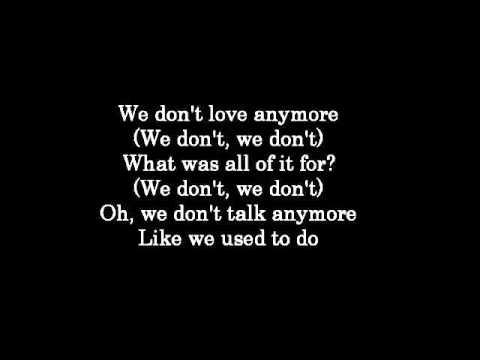 We Don't Talk Anymore - Charlie Puth ft Selena Gomez (Lyrics) (видео)
