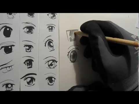 Manga Augen zeichnen lernen [HD]