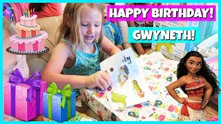 Don't forget to subscribe! http://www.youtube.com/theweisslifeIn today's family vlog - It's Gwyneth's 7th Birthday and we have a fun Moana themed pool party with all her family and friends! Watch her opening gifts and swimming with her friends! Happy Birthday Gwyneth!*Follow us on Instagram, Facebook and Twitter to stay up to date on our family and the new baby!Instagram: http://www.instagram.com/theweissfamFacebook: http://www.facebook.com/theweisslifeTwitter: http://twitter.com/TheWeissLifeMusical.ly: The Weiss LifeVideo filmed with: Canon PowerShot G7 X Mark II http://amzn.to/2iPmFMO (Affiliate link)Support us on Patreon: https://www.patreon.com/theweisslifeSend Us Mail!The Weiss Life69 Lincoln Blvd. Suite-A #267Lincoln, CA 95648THE WEISS LIFE is a fun family vlog channel that features the Weiss family! We do fun Challenges, Giveaways, Family Vlogs, Mommy & Pregnancy Vlogs, Build A Bear, Toys, Holidays like Halloween, Christmas & Easter, Birthday Parties, Gymnastics, Sidewalk Super Girls Superhero Skits, Costume Fashion Shows, videos from our Travel Adventures and other Family Fun!Production Music courtesy of  www.epidemicsound.com