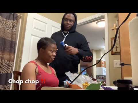 Hair cutting - Cutting my MOM hair off
