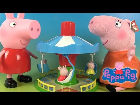 Peppa Pig Jouets Manège Le Carrousel de Peppa Fairground Ride Game Merry-Go-Round