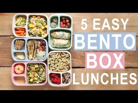 5 EASY BENTO BOX LUNCHES FOR BACK TO SCHOOL | 5 WAYS 5 DAYS MEAL PREP