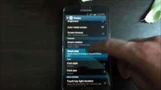 How to turn Smart stay on On Galaxy S3 and Galaxy Note 2