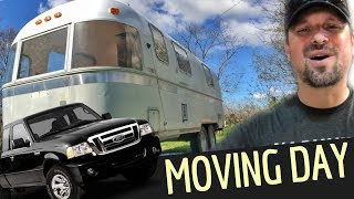 OMG - Moving The Airstream!!! 😬🤟 Airstream Renovation & RV Living