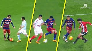 MSN (Lionel Messi, Luis Suarez & Neymar Jr.) amazing dribbling skills, tricks, assists & goals in 2015-2016 football season.