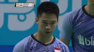 Video Dubai World Superseries Finals 2017 | Badminton SF1 M2-MD | Kam/Son vs Gid/Suk MP3, 3GP, MP4, WEBM, AVI, FLV Februari 2019