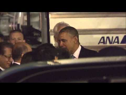 Raw - President Obama arrived in Tokyo Wednesday night for a four-country visit to the Asia-Pacific region. Obama's travels through Asia aim to reassure partners about the renewed U.S. commitment...