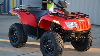 7. $6,499:  2015 Arctic Cat 500 4X4 EFI Red Overview and Review