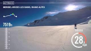 Brides-les-Bains France  City new picture : Trace: Skiing - Randall Hunt at Meribel-Brides Les Bains