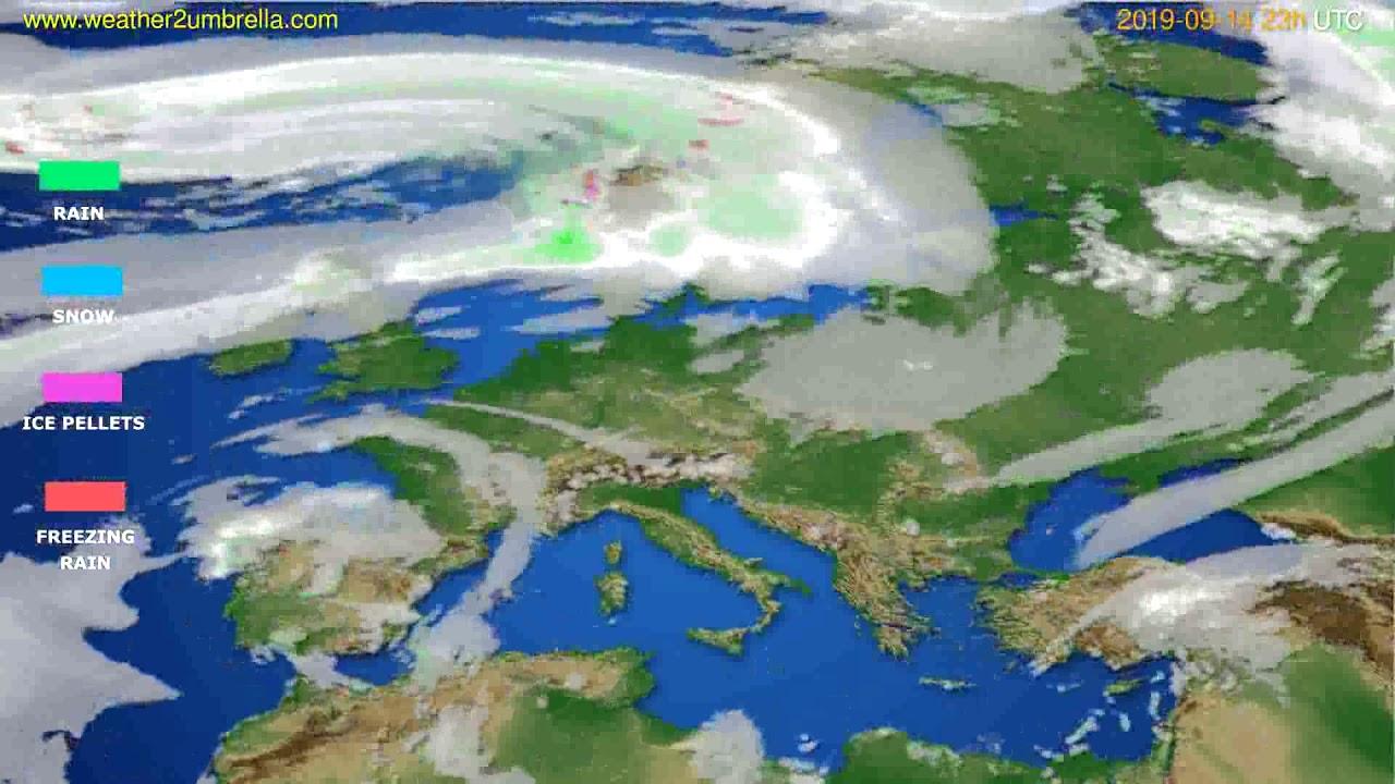 Precipitation forecast Europe // modelrun: 12h UTC 2019-09-11