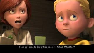 Learn/Practice English With MOVIES Lesson 1  The Incredibles