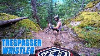 Trail (BC) Canada  City pictures : My GoPro - THE GNARLIEST MOUNTAIN BIKING TRAIL EVER!! Trespasser, Whistler, BC, Canada