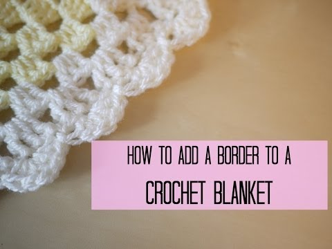 CROCHET: How to add a crochet border (scalloped/shell edging) | Bella Coco (видео)