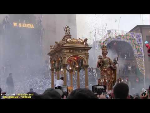ACICATENA (Ct) - SANTA LUCIA 2016 - PIROTECNICA MILLENNIUM e FIRESUD (Uscita)