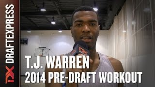 T.J. Warren 2014 NBA Pre-Draft Workout & Interview HD DraftExpress