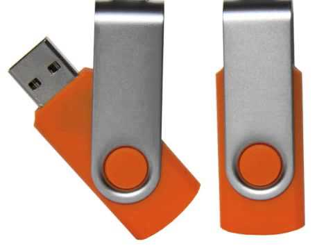 Custom Logo Promotional Swivel Flash USB Thumb Swing Drives Printed