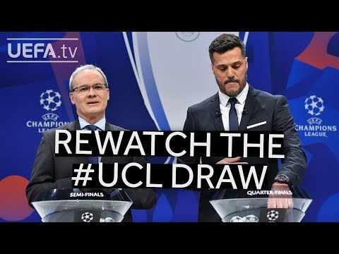 Rewatch the UEFA Champions League quarter-final, semi-final and final draws!