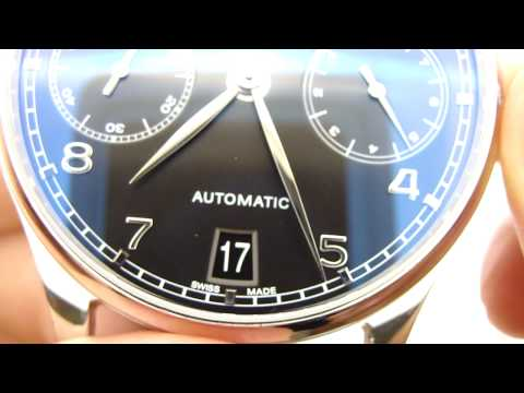 iwc portugieser - Buy this watch at http://www.keepthetime.com/index.php?main_page=product_info&cPath=2&products_id=318 * IWC Portugieser Automatic Power Reserve Watch o Refer...