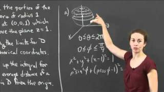 Average Distance On A Sphere | MIT 18.02SC Multivariable Calculus, Fall 2010