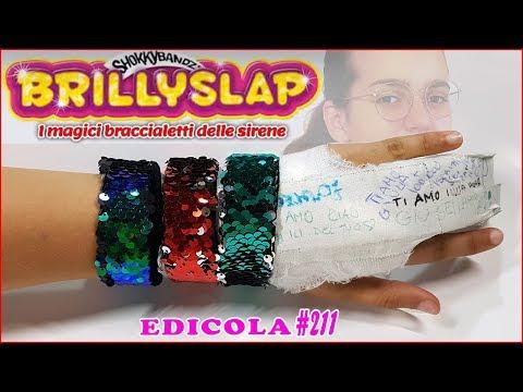 Apro Braccialetti BRILLYSLAP che cambiano colore con un dito SHOKKY BANDZ (Edicola by Giulia Guerra) (видео)