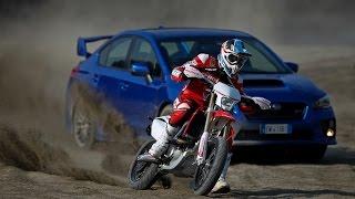 5. Duel - The Fight - Subaru WRX STi - Honda CRF450R Supermoto m.y. 2015