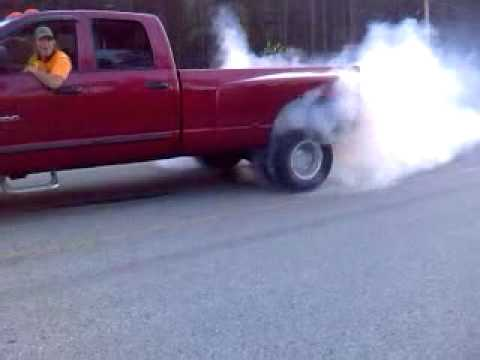 06 dodge dually burnout