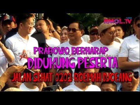 Prabowo Berharap Didukung Peserta Jalan Sehat 0202 Roemah Djoeang