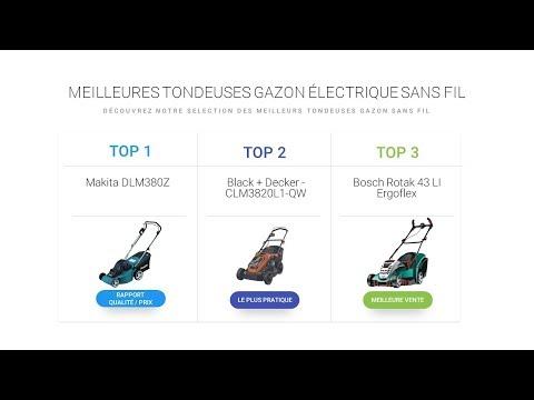 Comparatif Tondeuse Gazon Electrique sans Fil : La meilleure tondeuse Sans Fil