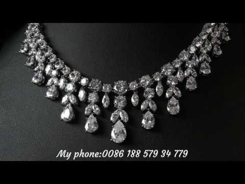 Wedding jewelry set. Bridal necklace set.