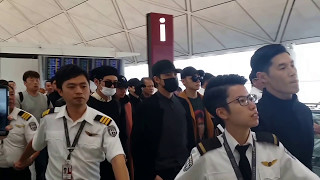 Video 161203 ~ BTS departure at Hong Kong airport MP3, 3GP, MP4, WEBM, AVI, FLV Agustus 2019