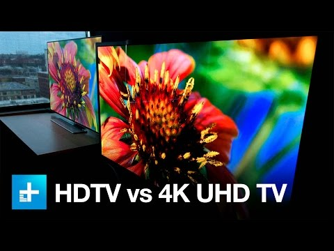 4K UHD TV vs. 1080p HDTV - Side by Side Comparison (видео)