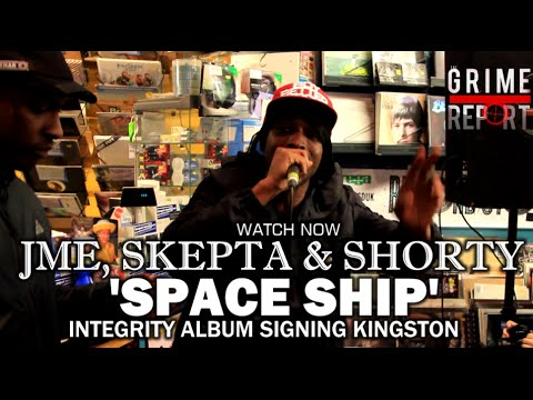 JME, SKEPTA & SHORTY 'SPACESHIP'  | INTEGRITY ALBUM SIGNING KINGSTON @JMEBBK @skepta @ShortyBBK