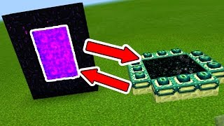 SWITCH the END PORTAL and NETHER PORTAL in Minecraft Pocket Edition!!!