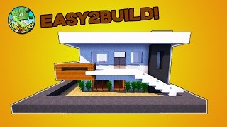 Minecraft Tutorial - How To Build A Small Modern House