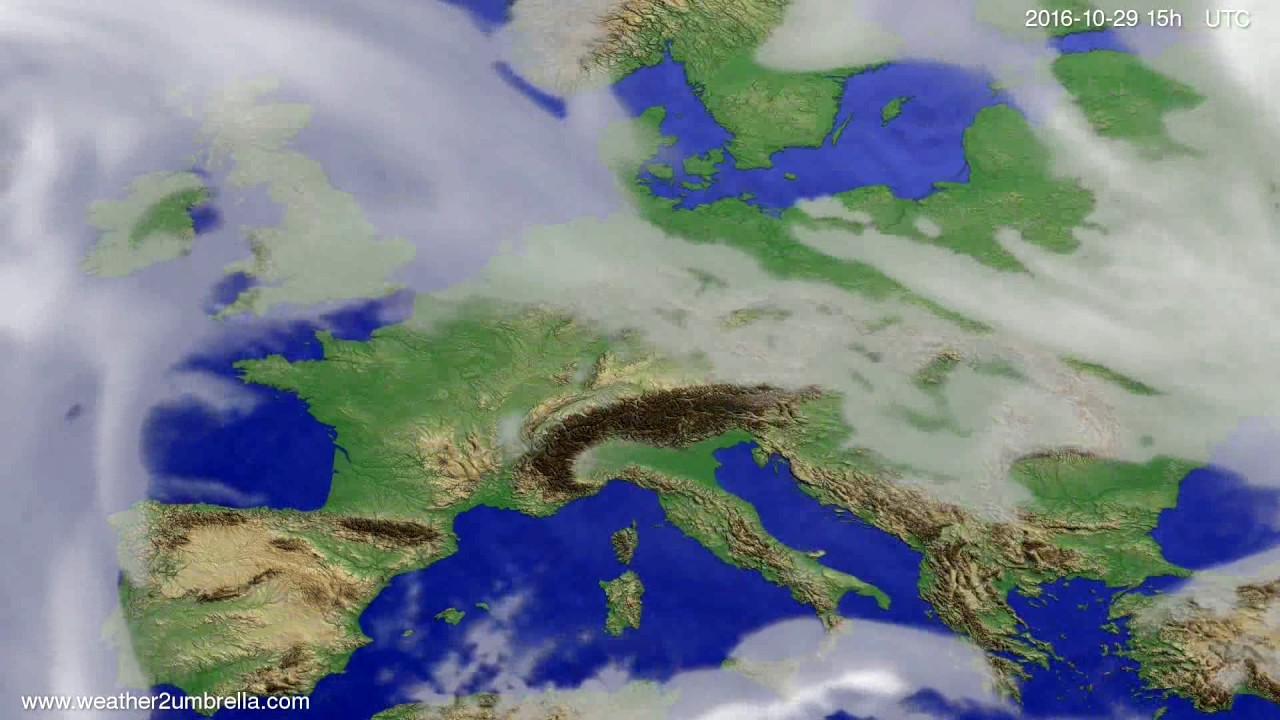 Cloud forecast Europe 2016-10-27