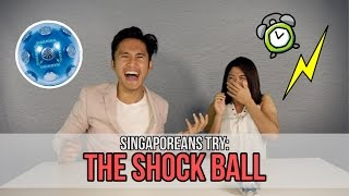 Video Singaporeans Try: The Shock Ball Challenge (feat. MunahHirziOfficial) | EP 57 MP3, 3GP, MP4, WEBM, AVI, FLV Agustus 2018