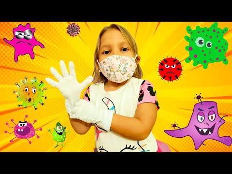 Carol e história infantil sobre vírus malvado | детские истории про вирусы - Gatinha das Artes