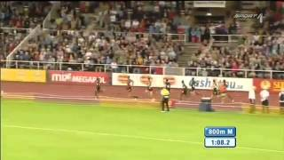 Ethiopian Mohammed Aman Wins 800m Diamond League In Stockholm 2012