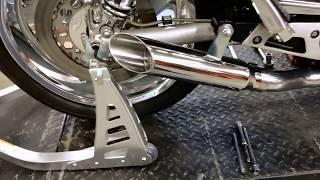 10. Maxflow StreetPro 4 2 YAMAHA V-Max Vmax Exhaust System w/ Slash Cut Mufflers (85-07 All)
