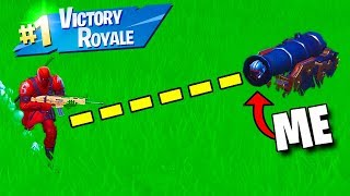 Winning Using *ONLY* a Cannon in Fortnite..