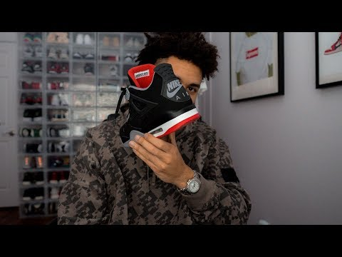 Air Jordan 4 Bred Review!