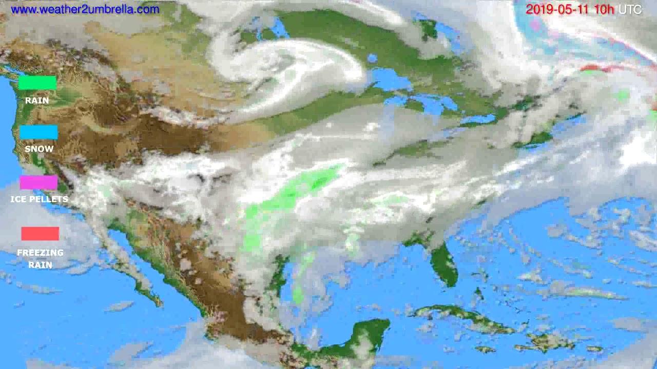 Precipitation forecast USA & Canada // modelrun: 00h UTC 2019-05-09