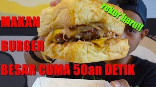 Video One minute challenge | BURGER CHALLENGE DARI SMACK BURGER | ENAK PARAH MP3, 3GP, MP4, WEBM, AVI, FLV Juni 2018