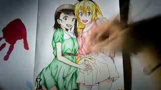 Hiiii, here' s the video of drawing Chitoge Kirisaki and Onodera Kosaki from Nisekoi. Love this anime :3Leave a like and a comment if U enjoyed watching, and also don' t forget to subscribe, it helps me a lot ^_^Music: https://www.youtube.com/watch?v=6BXN8p2z60QFullsize drawing: http://sorindrawings.deviantart.com/art/Chitoge-and-Onodera-480435243