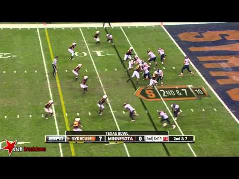 Brock Vereen vs Syracuse 2013 (Texas Bowl) video.