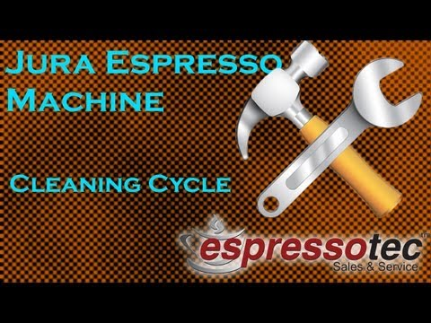 Jura Espresso Machine Cleaning Cycle Demonstration (J5)