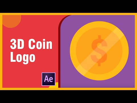 3D Coin Logo Animated Rotating - After Effects Tutorial