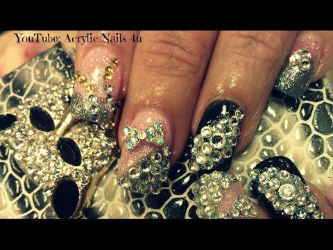 Million Dollar Nails Design Acrylic Nails Bling Acrylic Nails And